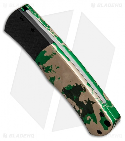 "Protech Custom Magic ""Whiskers"" Automatic Knife Camo (3.125"" Black) BR-1"