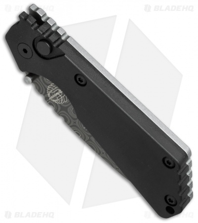 "Strider + Protech SnG Automatic Knife Double Black Micarta (3.5"" Damascus)"