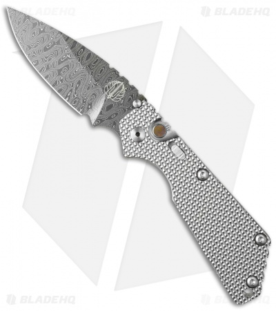 "Strider + Protech Custom SnG Automatic Knife Knurled Titanium (3.5"" Damascus)"