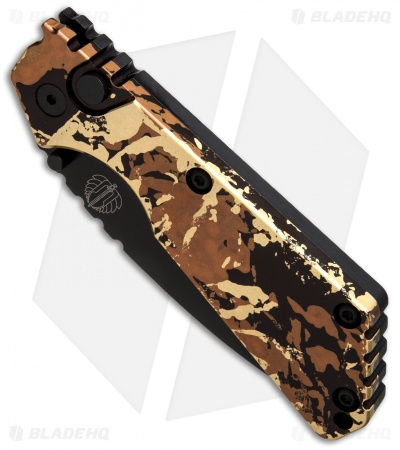 "Strider + Protech Custom SnG Automatic Knife Tan Camo Anodized (3.5"" Black) #1"