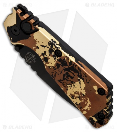 "Strider + Protech Custom SnG Automatic Knife Tan Camo Anodized (3.5"" Black) #2"