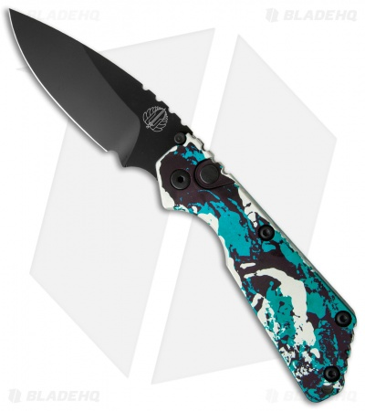 "Strider + Protech Custom SnG Automatic Knife Splash Anodized (3.5"" Black)"