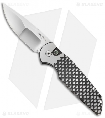 Protech TR-3 Steel Custom Automatic Knife Fish Scale (Compound Grind)
