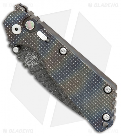 "Strider + Protech Custom SnG Automatic Knife Heat Colored Ti (3.5"" Damascus)"