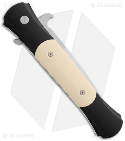 "Protech Large Don ""Tuxedo"" Automatic Knife Ivory Micarta (4.5"" Satin) 1951"