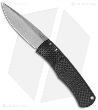 "Protech Magic BR-1 ""Whiskers"" Automatic Knife Carbon Fiber (3.125"" Stonewash)"