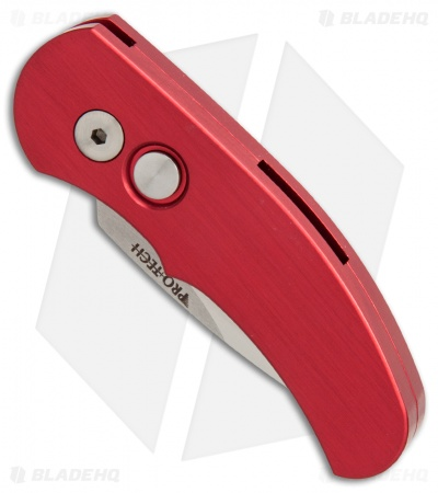 "Protech Runt J4 Automatic Knife Red Handle (1.94"" Satin) 4421"