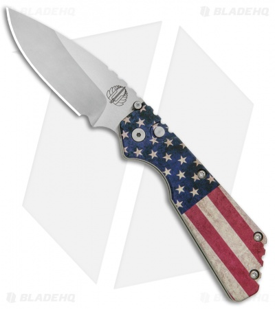 "Strider + Protech PT Automatic Knife Custom PK Ano Vintage USA Flag (2.75"" SW )"