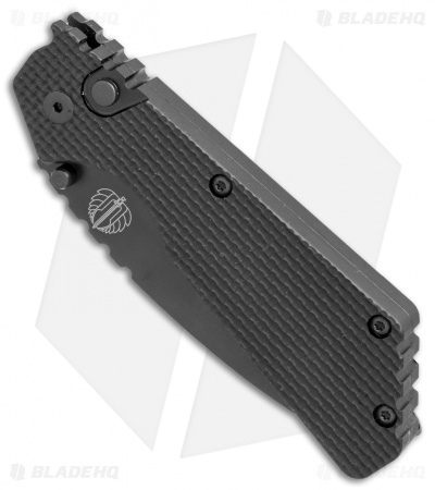 "Strider + Protech PT Automatic Knife Knurled Black (2.75"" Black Serr)"
