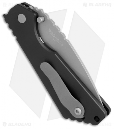 "Strider + Protech SnG Automatic Knife Solid Black Al (3.5"" Bead Blast) 2401-B"