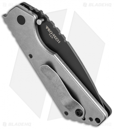 "Strider + Protech SnG Automatic Knife Double Black Micarta (3.5"" Black)"