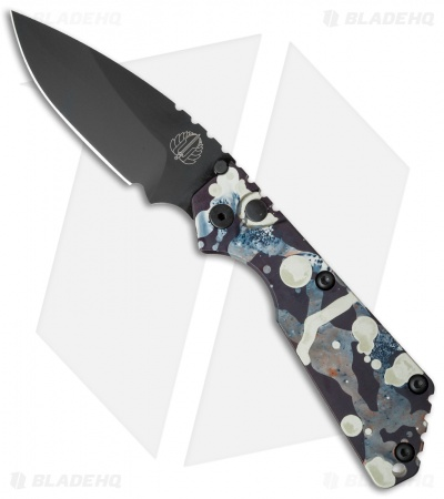 "Strider + Protech SnG Automatic Knife Champagne/Black Splash (3.5"" Black)"