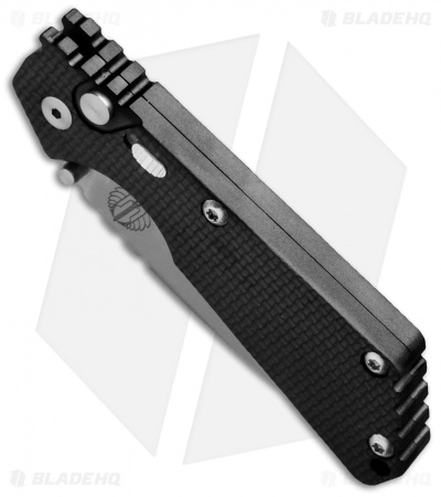 "Strider + Protech SnG Automatic Knife Knurled w/Safety (3.5"" Stonewash)"