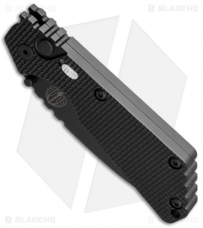 "Strider + Protech SnG Automatic Knife Knurled w/Safety (3.5"" Black Serr)"