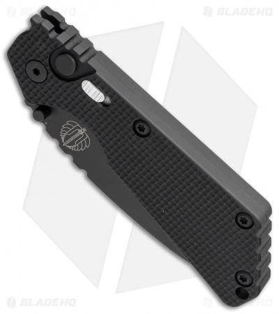 "Strider + Protech SnG Automatic Knife Knurled Aluminum w/Safety (3.5"" Black)"