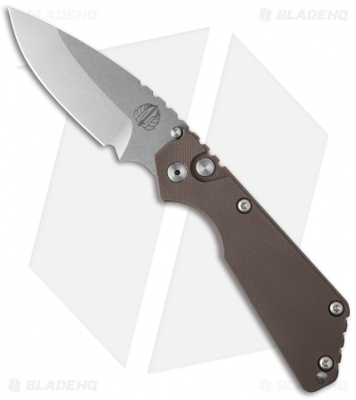 "Strider + Protech SnG Automatic Knife Earth Brown (3.5"" Stonewash)"