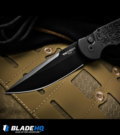"Protech TR-3 Tactical Response Automatic Knife Non-Slip (3.5"" Black) R6"