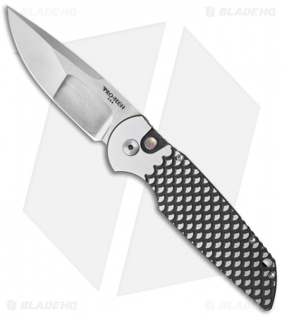 "Protech TR-3 Steel Custom Automatic Knife DLC Fish Scale (3.5"" Compound)"