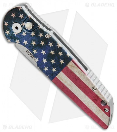 "Protech TR-3 Automatic Knife PK Custom Vintage Flag (3.5"" Mirror)"