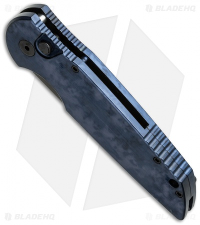 "Protech TR-3 Tactical Response Knife Black/Blue Jazz (3.5"" Black) J4"