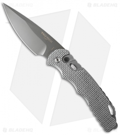 "Protech TR-4 S16 Custom Tactical Response 4 Automatic Knife Knurled (4"" Gray D2)"