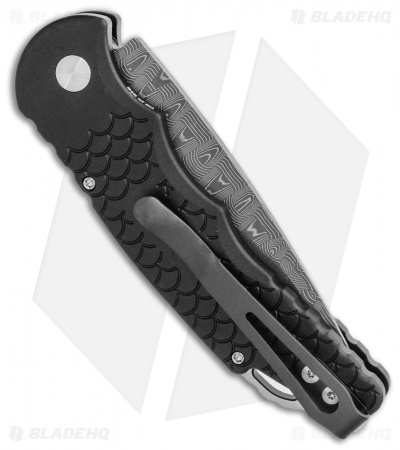 "Pro-Tech TR-5 Custom Automatic Knife Black Fish Scale (3.25"" Damascus)"