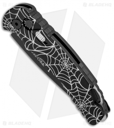 "Protech TR-5 Tactical Response Automatic Knife Spider Web (3.25"" Black)"