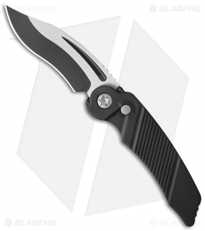 "Rat Worx MRX Lightweight Recurve Automatic Knife Black (3.6"" Two-Tone) 22213"