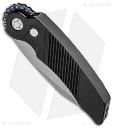 "Rat Worx MRX Full-Size Automatic Knife Black (3.6"" Stonewash Serr) 02011"