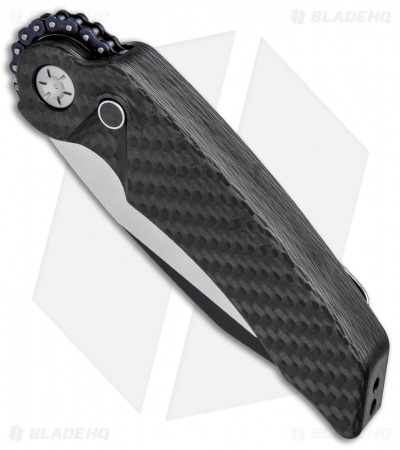 "Rat Worx MRX Full-Size Automatic Knife Full Carbon Fiber (3.6"" Two-Tone) 09013"