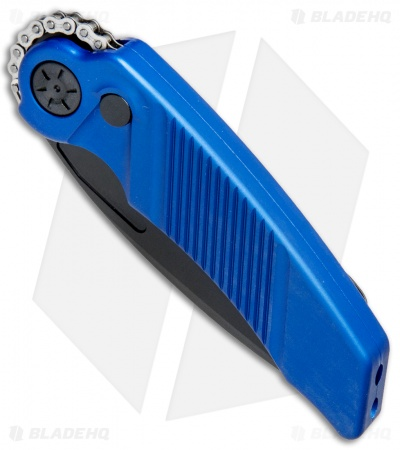 "Rat Worx MRX Mini Tanto Automatic Knife Blue (3"" Black) 16301"