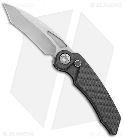 "Rat Worx MRX Mini Tanto Automatic Knife Carbon Fiber (3"" Stonewash) 19310"