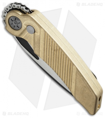 "Rat Worx MRX Mini Tanto Automatic Knife Brass (3"" Two-Tone) 15313"