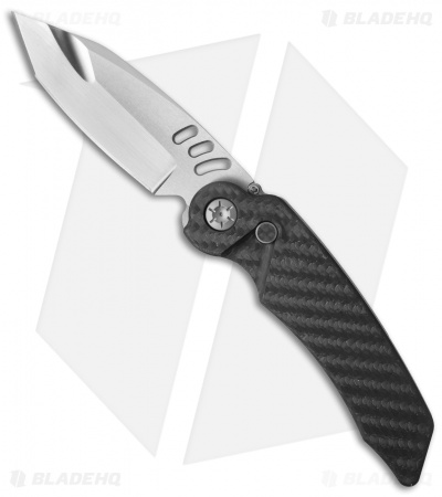 "Rat Worx Custom MRX Chain Drive Automatic Knife CF (3.6"" Triple Ground Satin)"