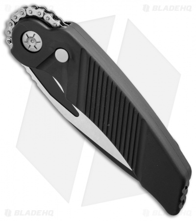 "Rat Worx MRX Lightweight Tanto Automatic Knife Black (3.6"" Two-Tone) 22313"