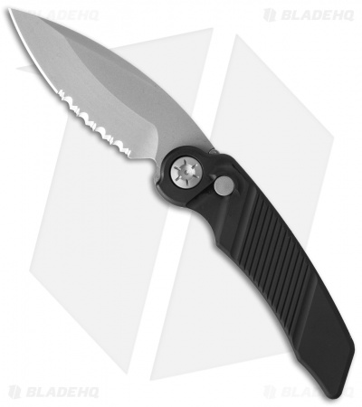 "Rat Worx MRX Mini Automatic Knife Black (3"" Stonewash Serr) 12008"