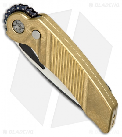"Rat Worx MRX Chain Drive Automatic Knife Brass (4"" Two-Tone) RW-MRX-05213"