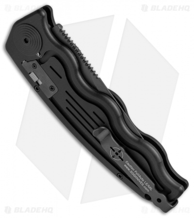 "SOG-TAC Clip Point Automatic Knife (3.5"" Black) ST-02"