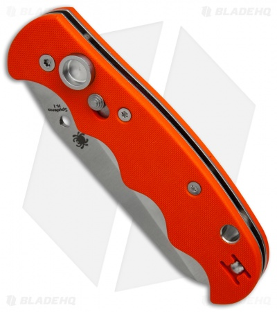 "Spyderco Autonomy Automatic Knife Orange G-10 (3.75"" Satin Serr) C165GSOR"
