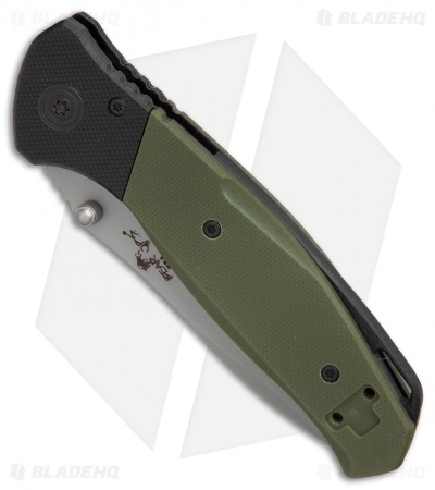 "Bear OPS Bear Swipe IV  Spring Assisted Knife OD Green G-10 (3.25"" Bead Blast)"