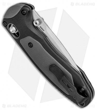 "Benchmade 595S Mini Boost AXIS-Assist Knife Black/Gray (3.11"" Satin Serr)"