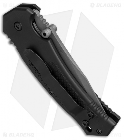 "Combative Edge M1X Tanto Spring Assisted Knife Black (3.25"" Bead Blast Serr)"