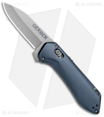 "Gerber Highbrow Compact A/O Spring Assisted Knife Blue (2.8"" Stonewash)"