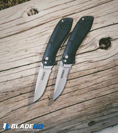 "Gerber US-Assist Spring Assisted Knife Black (3"" 420HC Gray Serr) 30-001294"