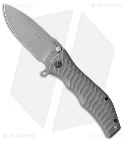 "HTM Darrel Ralph Large Gun Hammer Torpedo Liner Lock Knife Gray (3.8"" BB)"