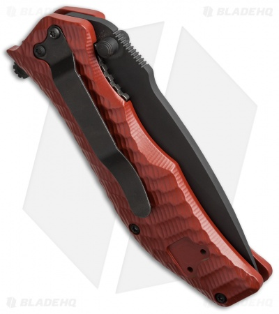 "HTM Darrel Ralph Gun Hammer Torpedo Spring Assisted Knife Red (3.5"" Black)"