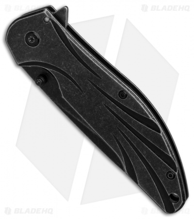 "Kershaw Blend Assisted Opening Knife Stainless Steel (3.5"" Blackwash )1327"