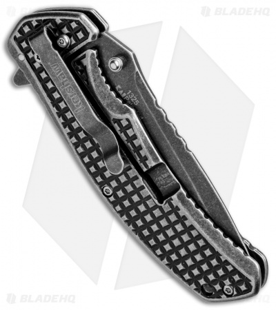"Kershaw Headgrille Assisted Opening Frame Lock Knife (3.25"" Blackwash) 1325"
