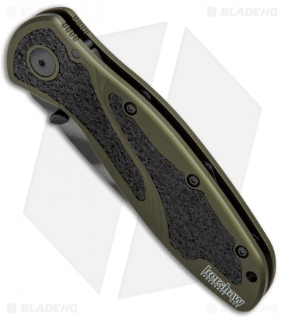 "Kershaw Blur Assisted Opening Knife OD Green (3.375"" Tiger Stripe) 1670OLTS"