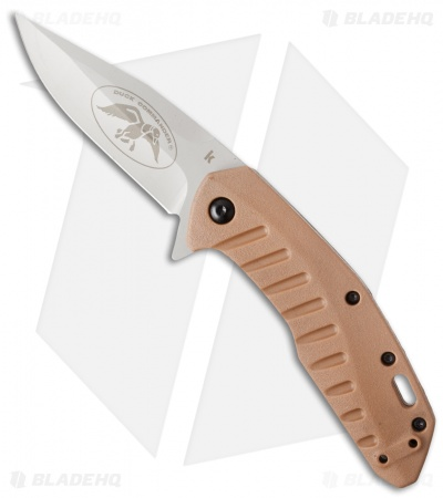 "Kershaw Duck Commander Bisland Assisted Opening Knife (3.25"" Bead Blast) 7422DCX"